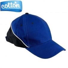 Medvilninės kepurės su snapeliu URG-TOP blue/black