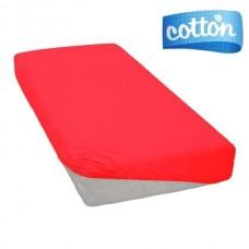 Elektrinės raudonio spalvos satino paklodė su guma